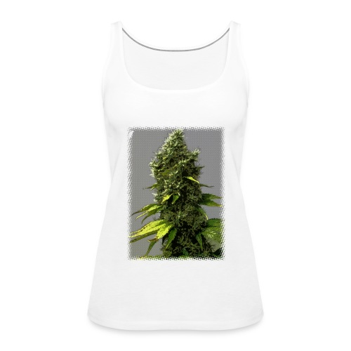 cartoon weed bud shirt - Women's Premium Tank Top