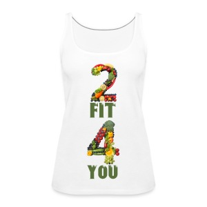 Vegan 2 FIT 4 YOU Fitness Power - Frauen Premium Tank Top