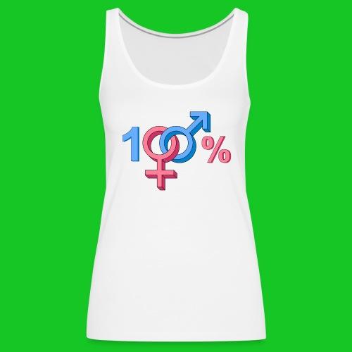 100% Heteroseksueel tank top - Vrouwen Premium tank top