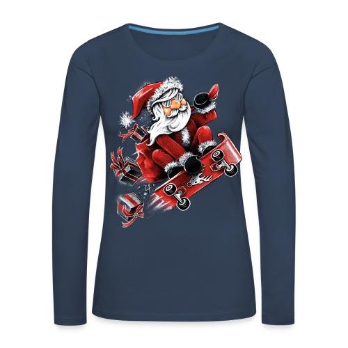 Santa Skateboarding - Women's Premium Longsleeve Shirt