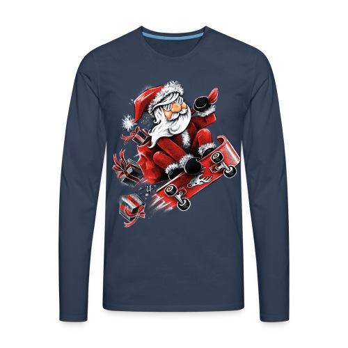 Santa Skateboarding - Men's Premium Longsleeve Shirt