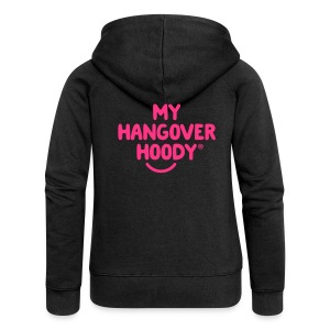 The Original My Hangover Hoody® - Black and Pink - Women's Premium Hooded Jacket