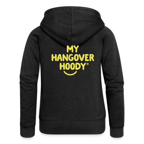 The Original My Hangover Hoody® - Black and Yellow - Women's Premium Hooded Jacket