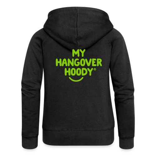 The Original My Hangover Hoody® - Black and Green - Women's Premium Hooded Jacket