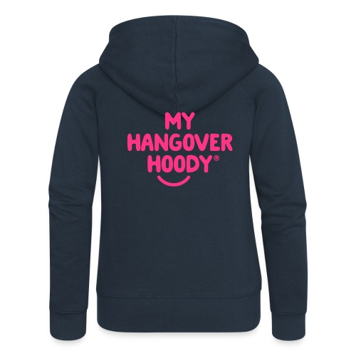 The Original My Hangover Hoody® - Blue and Pink - Women's Premium Hooded Jacket