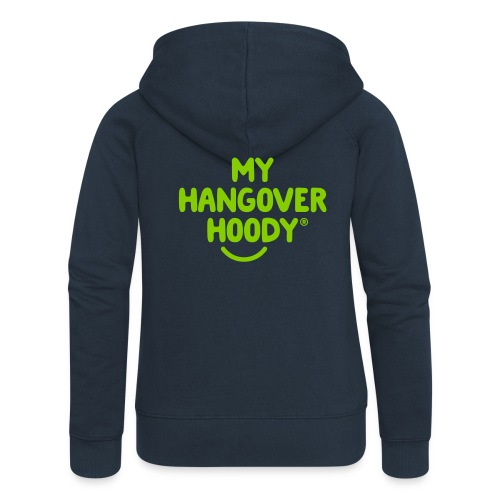The Original My Hangover Hoody® - Blue and Green - Women's Premium Hooded Jacket