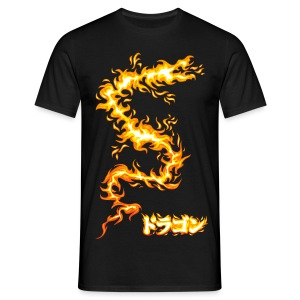 Flaming dragon - Männer T-Shirt