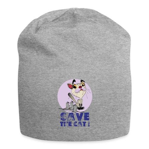 Afraid cat on your head - Bonnet en jersey