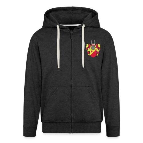 Hoodie Jacke // Wappen + Schriftzug // m - Männer Premium Kapuzenjacke