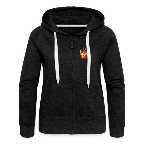 Hoodie Jacke // Wappen + Schriftzug // w - Frauen Premium Kapuzenjacke