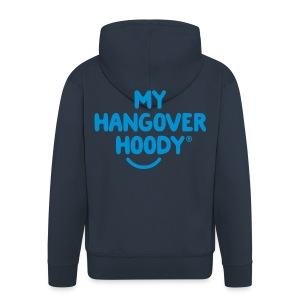 The Original My Hangover Hoody® - Blue and Blue - Men's Premium Hooded Jacket