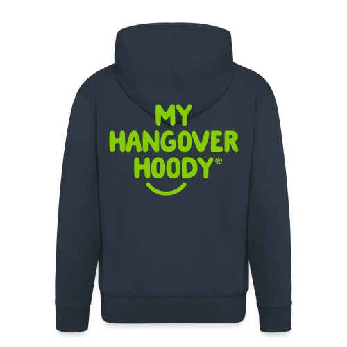 The Original My Hangover Hoody® - Blue and Green - Men's Premium Hooded Jacket