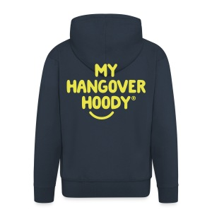 The Original My Hangover Hoody® - Blue and Yellow - Men's Premium Hooded Jacket