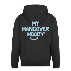 The Original My Hangover Hoody® - Black and Sky - Men's Premium Hooded Jacket