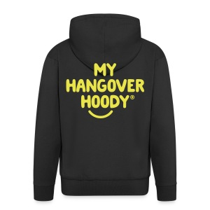 The Original My Hangover Hoody® - Black and Yellow - Men's Premium Hooded Jacket