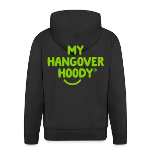 The Original My Hangover Hoody® - Black and Green - Men's Premium Hooded Jacket