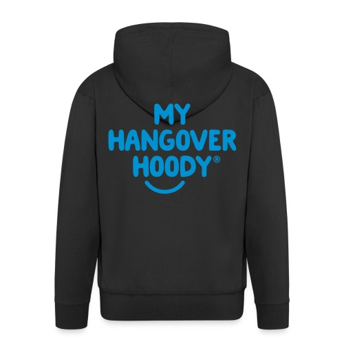 The Original My Hangover Hoody® - Black and Blue - Men's Premium Hooded Jacket