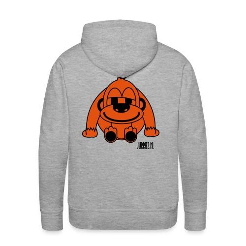 Hoodie print back - Pelle  - Mannen Premium hoodie