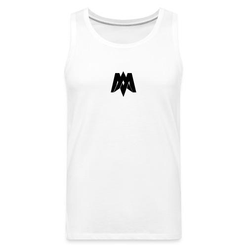 Mantra Fitness Tank Top (White) - Men's Premium Tank Top