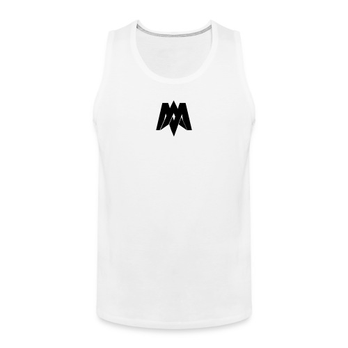 Mantra Fitness Tank Top (White) - Men's Premium Tank Top