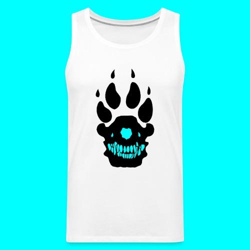 Sudenhakkaajapaita (musta/turkoosi logo) - Miesten premium hihaton paita