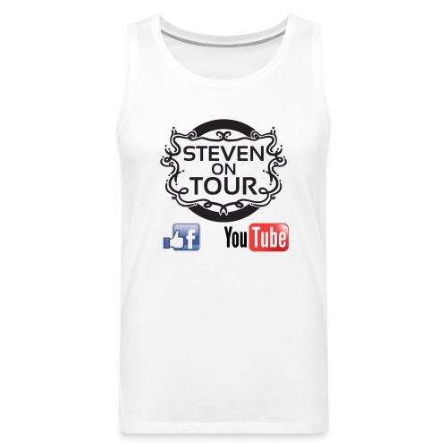 Steven on Tour Tank Top Männer weiß, Logo schwarz vorne - Männer Premium Tank Top