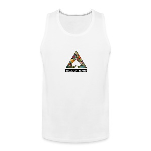 MENS ACE TANK - FULL (WHT) - Men's Premium Tank Top