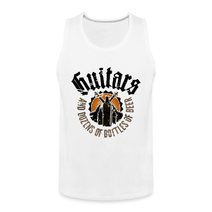 Guitars And Dozens of Bottles of Beer - Männer Premium Tank Top