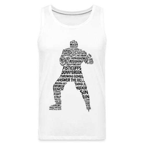 Hockey Enforcer Typography Men's Vest Top - Men's Premium Tank Top