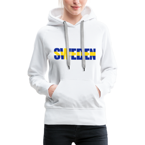 Huvtröja dam Premium, SWEDEN flag - Premiumluvtröja dam