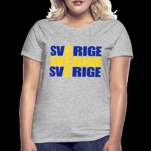 T-shirt dam, SVERIGE flag - T-shirt dam