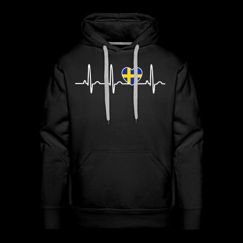 EKG hjärta Sverigeflagga