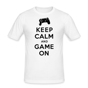 Keep Calm Game On - - Männer Slim Fit T-Shirt