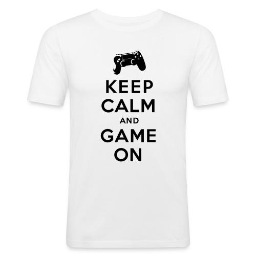 Keep Calm Game On - - Männer Slim Fit T-Shirt