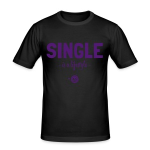 SINGLE is a lifestyle - Männer Slim Fit T-Shirt