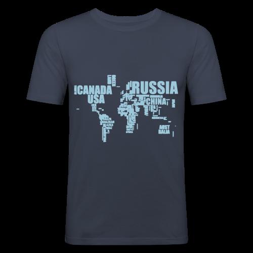 World in Words - Men's Slim Fit T-Shirt