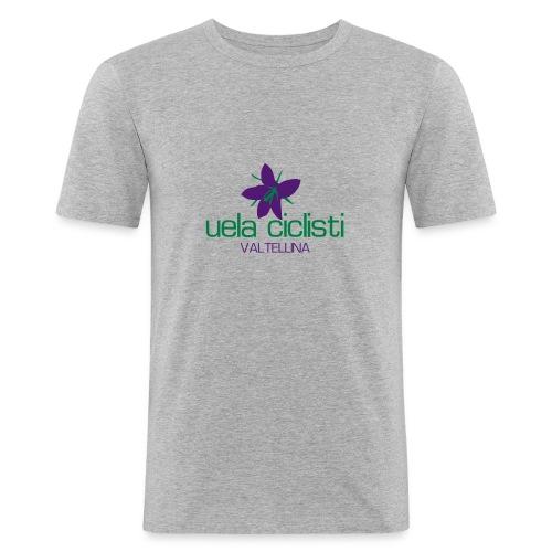 valtellina gray - Männer Slim Fit T-Shirt