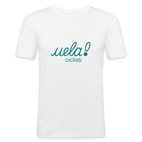 classic petrol/white - Männer Slim Fit T-Shirt