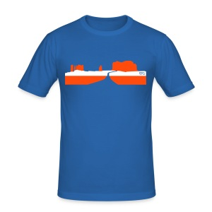 Monument Pass - Männer Slim Fit T-Shirt