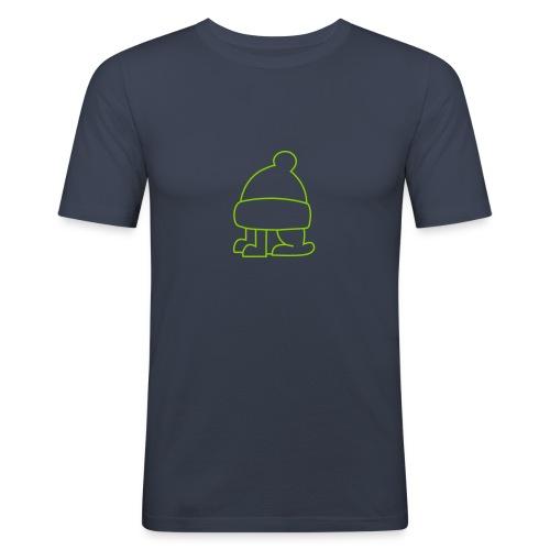 Frauen T-Shirt Pinguin Silhouette in hellblau - Männer Slim Fit T-Shirt