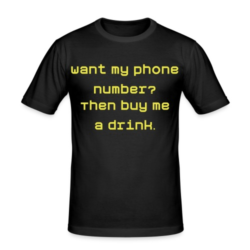 Want my number? - Men's Slim Fit T-Shirt