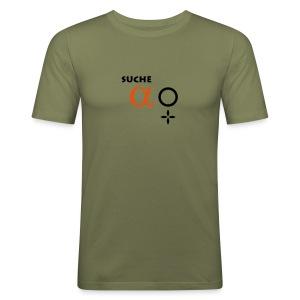 Suche Alpha-Weibchen Shirt - Männer Slim Fit T-Shirt