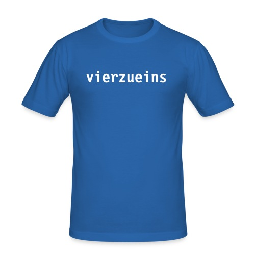 T-Shirt vierzueins - Männer Slim Fit T-Shirt