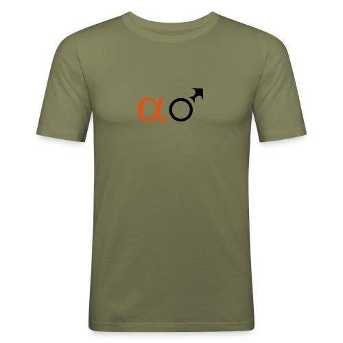 Alpha-Männchen T-Shirt - Männer Slim Fit T-Shirt