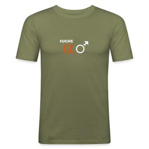 Suche Alpha-Männchen T-Shirt - Männer Slim Fit T-Shirt