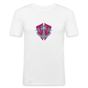 Anker Wappen T-Shirt - Männer Slim Fit T-Shirt