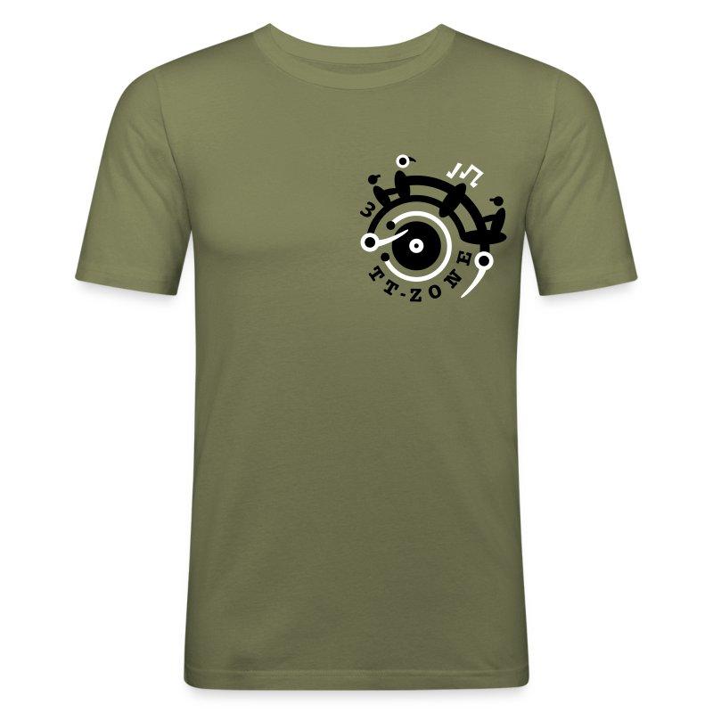 TurnTable Zone3 Shirt - Männer Slim Fit T-Shirt