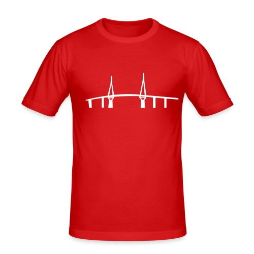 bruecke_mann - Männer Slim Fit T-Shirt