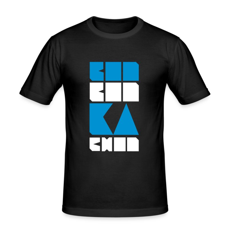BOO BOO KA CHOO, box letter tee. - Men's Slim Fit T-Shirt