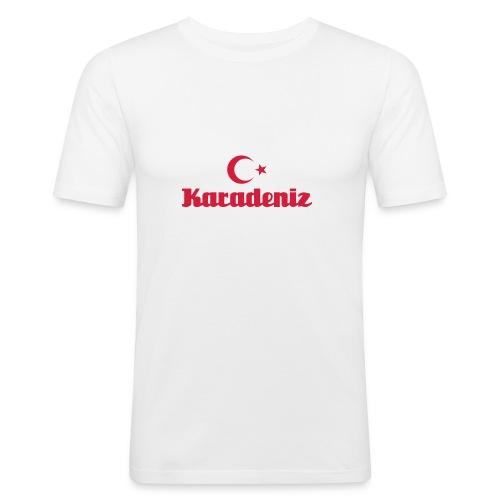 Karadeniz ayyıldızlı - Männer Slim Fit T-Shirt
